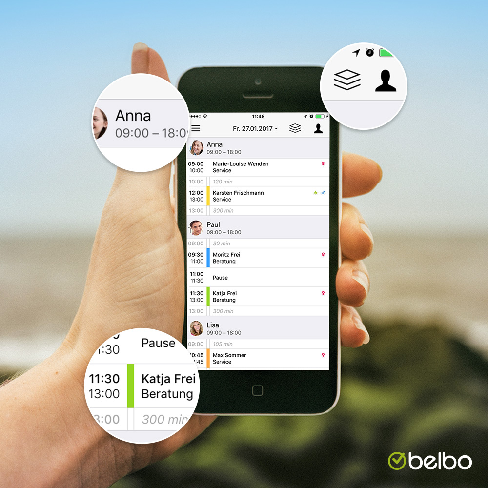 Handliche App für Geschäftsinhaber und Mitarbeiter