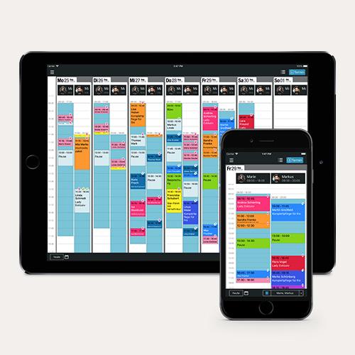 neuerungen der belbo app f r iphone und ipad kalender dienstplan online termine f r ihren salon. Black Bedroom Furniture Sets. Home Design Ideas